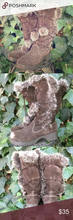 Faux Fur Winter Boots While enjoying your nice, warm summer, prepare for the dreaded winter cold! These babies will keep your tootsies warm all year 'round ☃ Report Shoes Winter & Rain Boots