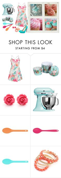 """""""Baking Cupcakes!"""" by mary-grace-see on Polyvore featuring Boohoo, KitchenAid, Kitchen Craft Colourworks, Ruby Rocks, Christian Louboutin, Spring, Easter and cupcakes"""