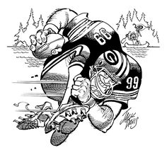 Green Bay Packers drawing by Jack Davis