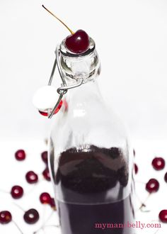 Make Sour Cherry Infused Vodka with dozen cherries.