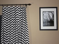 Lots of Black & White zags and zigs - chevron curtains