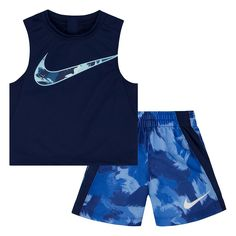 Nike Legacy-Print Tank Top & Shorts Set, Toddler & Little Boys - Gray 4 Boys Summer Outfits, Baby Boy Outfits, Kids Outfits, Baby Boy Nike, Boys Nike, Baby Boys, Toddler Swag, Toddler Boys, Cool Kids Clothes