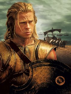 My ultimate crush! Brad Pitt a. ACHILLES in Troy movie. Troy Film, Troy Movie, I Movie, Brad And Angelina, Angelina Jolie, Troy Achilles, Brat Pitt, Character Wallpaper, Ancient Greece