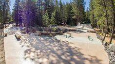 Woodward Tahoe- Sierra Skatepark- Build: The Sierra Skatepark is a concrete park that is a… #Skatevideos #build #sierra #skatepark #tahoe