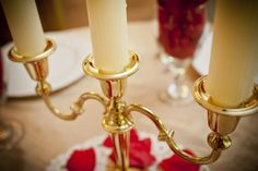 Lumiere Table Centerpiece. Beauty and the Beast Wedding.
