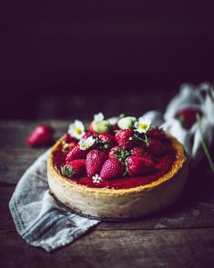 "Eva Kosmas Flores on Instagram: ""If you're wondering what to make for 4th of July weekend, might I suggest this tasty strawberry balsamic cheesecake with @vermontcreamery…"""