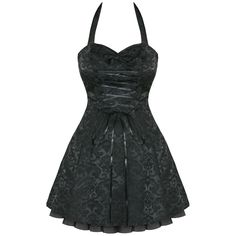 Sooo want this...but no reason for it :( Black Damask Gothic Steampunk Emo Party Prom Dress | eBay
