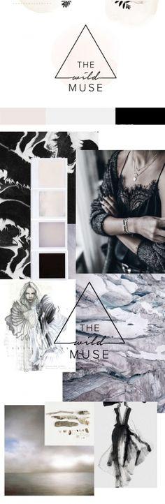 boho branding, muted palette, pastel palette, black, mauve, boho moodboard, geometric logo, triangle logo