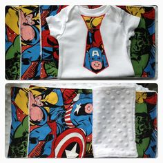 Superhero baby gift set by LilSparklers on Etsy, $20.00  Oh my cuteness!