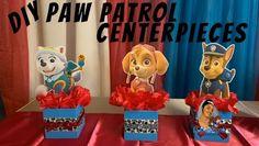 Paw Patrol Birthday Decorations, Paw Patrol Birthday Theme, Diy Birthday Decorations, Paw Patrol Centerpieces, Birthday Party Centerpieces, 2nd Birthday Parties, 4th Birthday, Kid, Watch