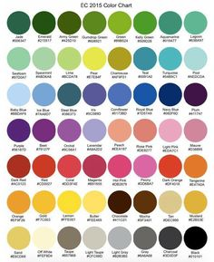 Hex Codes for the the EC monthly colours (vertical layout)