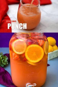 Simple Jungle Juice Recipe, Easy Jungle Juice, Fun Drinks Alcohol, Alcohol Drink Recipes, Easy Alcoholic Punch Recipes, Pineapple Alcohol Drinks, Spiked Punch Recipes, Adult Punch Recipes, Champagne Punch Recipes