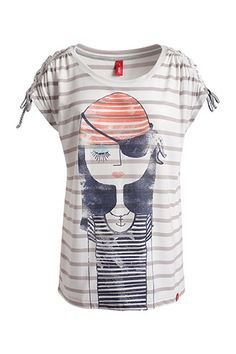 printed nautical T-shirt EDC - Esprit Online-Shop