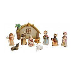 Kerststal figuren 10-delig. 10-delige luxe poppetjes set voor in de kerstkribbe…