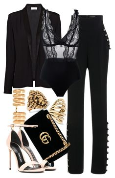 """Gucci x Tom Ford"" by muddychip-797 ❤ liked on Polyvore featuring American Vintage, David Koma, La Perla, Repossi, Yves Saint Laurent, Lisa Eisner, Gucci, Tom Ford, saintlaurent and gucci"