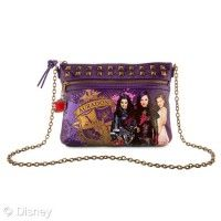 Our Disney Descendants across the body bag is a wickedly stylish accessory. The faux leather design features character artwork from the film, two zip sections, metal studding and a chain strap. Descendants Wicked World, Disney Channel Descendants, Evie Descendants, Mal And Evie, Zeina, Dove Cameron, Disney S, Crossbody Bag, Purses