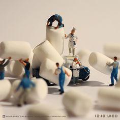 Miniature Photography: Marshmallow