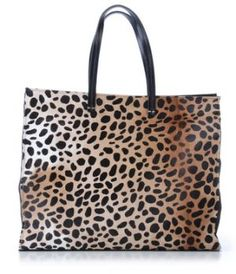Leopard Tote by Clare Vivier