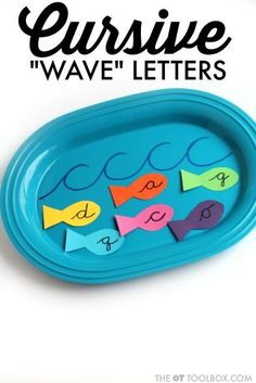 "Cursive Letter Formation ""Wave Letters"" - The OT Toolbox Teaching Cursive Writing, Learning Cursive, Teaching Handwriting, Handwriting Activities, Improve Your Handwriting, Learning To Write, Learning Letters, Fun Learning, Learning Tools"