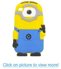 Funny Design 3d Despicable Me Minions One Eye/ Two Eyes Soft Gel Rubber Silicone Back Cover Case for Apple iPhone 4/4s #Funny #Design #3d #Despicable #Minions #One #Eye_ #Two #Eyes #Soft #Gel #Rubber #Silicone #Back #Cover #Case #Apple #iPhone #4_4s