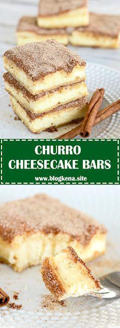 CHURRO CHEESECAKE BARS - #recipes