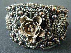 RERVED FOR SUSIE Metallista Bead Embroidery Metallic bracelet.