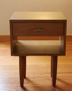 Mid Century Nightstand/ Bedside Table/ Scandinavian Design/ Custom Made/ Handmade