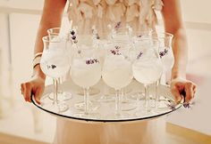 Lavender garnished cocktails?  Why yes, thank you! <3