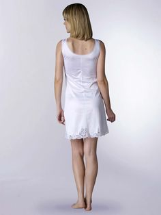 8 Collections Big Girls White Simple Empire Waist Slip I.C