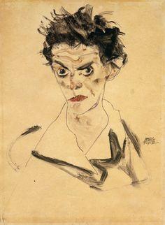 Egon Schiele, Self-Portrait