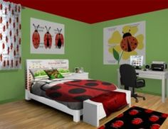 Ladybug Sprawl Kid Girl Room