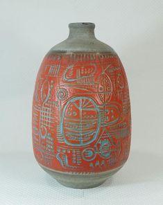 Mid Century Vase by Gerda Heuckeroth for Carstens Tönnieshof, Vases For Sale, Mid Century Design, Ceramic Art, 1960s, Pots, Lamps, Wordpress, Pottery, Clay
