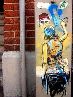 A Street Artist's self portrait. By Alice Pasquini, Amsterdam.