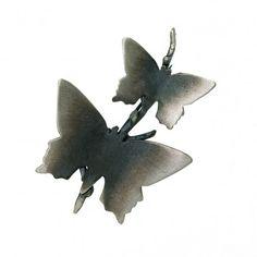 Srebrna broszka Motyle