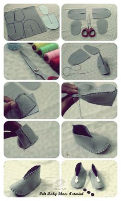 Cute DIY Baby Shoes