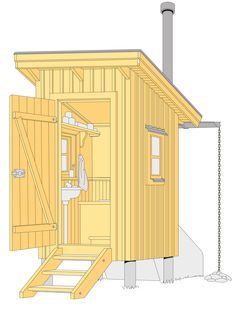 Outdoor Toilet, Nantucket Cottage, Outdoor Bathrooms, Cottage Plan, Cabins In The Woods, Cozy House, Bungalow, House Ideas, Architecture