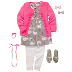 Funny Flamingos | Toddler Girl (D outfit for Easter)