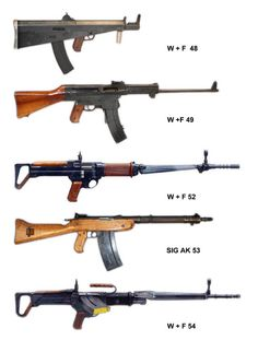 Prototypes of Swiss assault rifles
