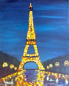 Paris at Night. Not too fond of this one but you know I have to do something with Paris lol