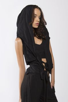 Hooded wrap top #limitededition #handmade #slowfashion www.aimmea.com
