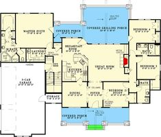 Impressive Rustic Retreat - 59984ND floor plan - Main Level