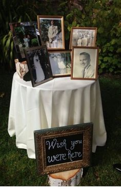Missing you table at wedding