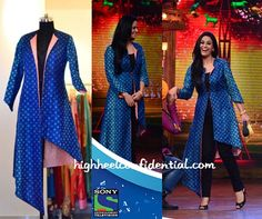 Mona Singh stylish blue