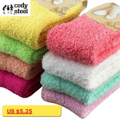 Cody Steel Winter Womans Socks Thicken Coral Cashmere Girls Socks Casual Warm Ladies Socks 3pairs/lot