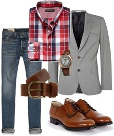 """The Casual Male"" by rachaelyesces on Polyvore"