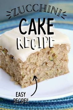 No one can resist my grandma's homemade zucchini cake with cream cheese frosting. It's tender, delicious, and so sweet. #zucchinicake #frostedzucchinicake Cake With Cream Cheese, Cream Cheese Frosting, Fun Desserts, Delicious Desserts, Easy Cake Recipes, Party Recipes, Zucchini Cake, Pinterest Recipes, Amazing Cakes