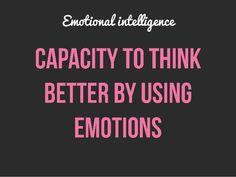 Emotional Intelligence and Job Performance The other side of IQ By Using, Emotional Intelligence