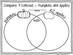 Pumpkins and apples. Fall writing activities for first graders. 1st Grade Writing, First Grade Reading, First Grade Classroom, Teaching Writing, Student Teaching, Writing Activities, Classroom Activities, Writing Binder, Classroom Decor