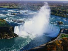 Niagara Falls, USA    Niagara Falls is probably the most famous waterfall in the world, Niagara Falls is found on the border of the United States and Canada.