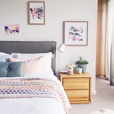 Pure joy in this colourful and serene bedroom by Bask Interiors with Eadie's Luca Series  Eadie www.eadielifestyle.com.au